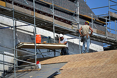 Flat roof to pitch roof in Huyton